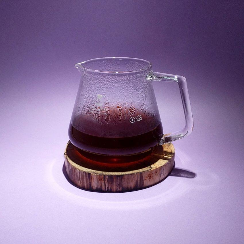 Una jarra de cafe especial