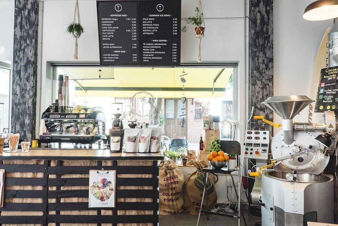 una tienda de cafe en espana