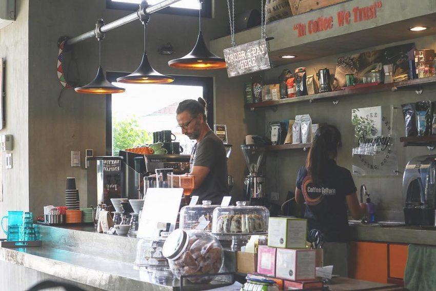 Una tienda de cafe en filipinas