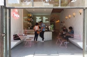 outside view of coffee shop