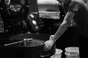 roaster checking roasting machine