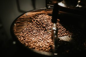 Coffee cooling down in roaster