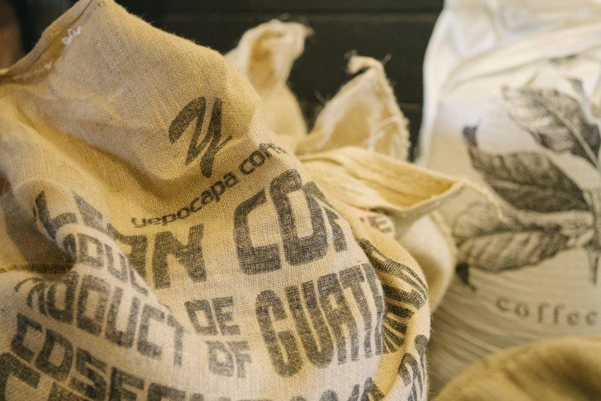un saco de cafe
