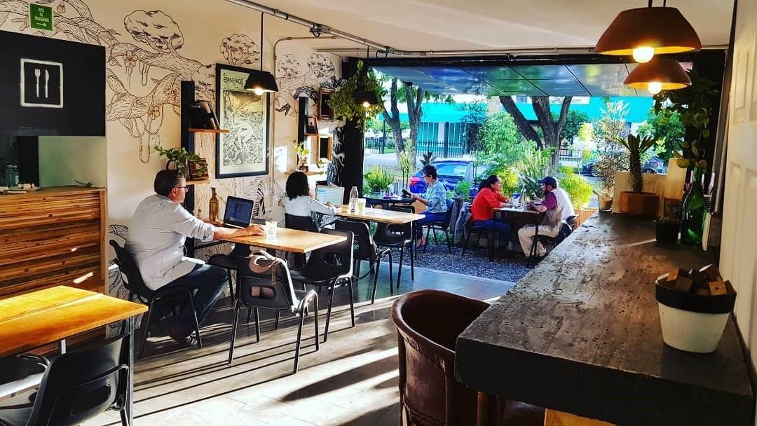clientes toman cafe en una tienda de especialidad en guadalajara
