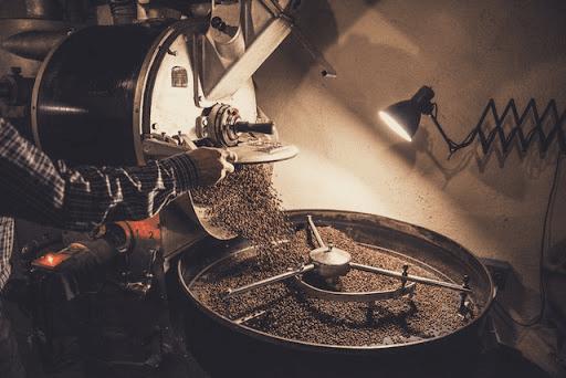 cafe tostado terminado de ser tostado