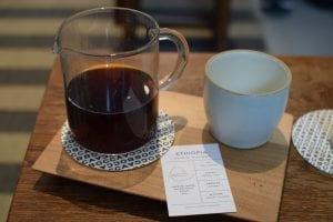 ethiopian coffee and cupping card