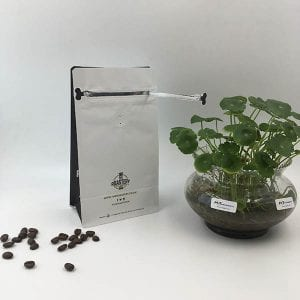 Coffee bag with pocket zipper