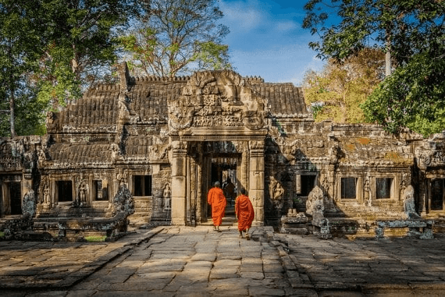 monjes de camboya